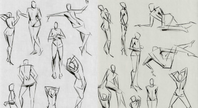 Ink figure quicksketches