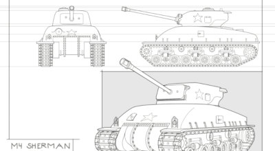 Panhard armored vehicle in perspective